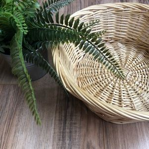 Other - Small round wicker basket light Tan